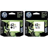 HP 62XL Ink Cartridge Black Ink & Color Combo