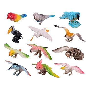 Toyvian Aves De Animales Juguetes Plástico Modelos Artificiales m08ywvNnO