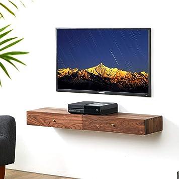Mesa de Noche Mueble de televisión de Pared con Cajon Estante ...