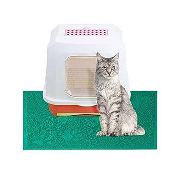 Pawaca Alfombrilla antideslizante para arena de gato – 3 bonitos patrones a elegir, resistente al