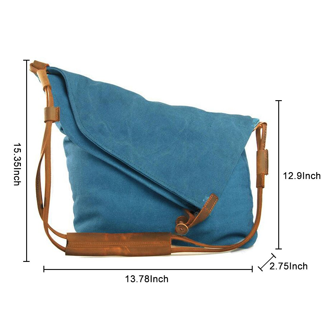 e4d906154e1f Amazon.com  FXTXYMX Hobo Bags Canvas Cross Body Messenger Bags Handbag  Totes Shoulder Purse Fold Over Bag for Men and Women (Blue)  Shoes