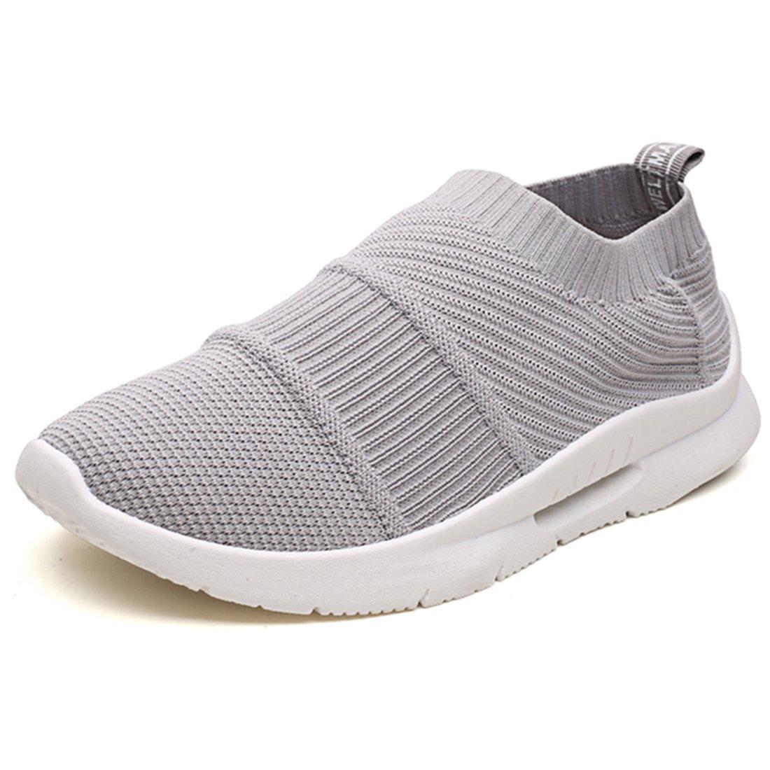 Sooneeya Running Shoes for Men Women Breathable Mesh Sock Footwear Sport Athletic Sneakers Walking Shoes B07D31PRK6 US B(M) 7 / US D(M) 6.5|Grey