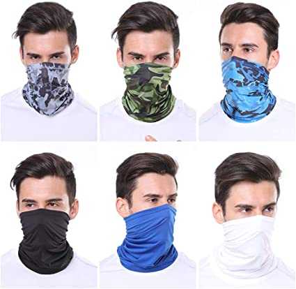 Anti-dust Face Cover UV Protection Neck Gaiter Scarf Sunscreen Breathable Bandana for Sports Activities
