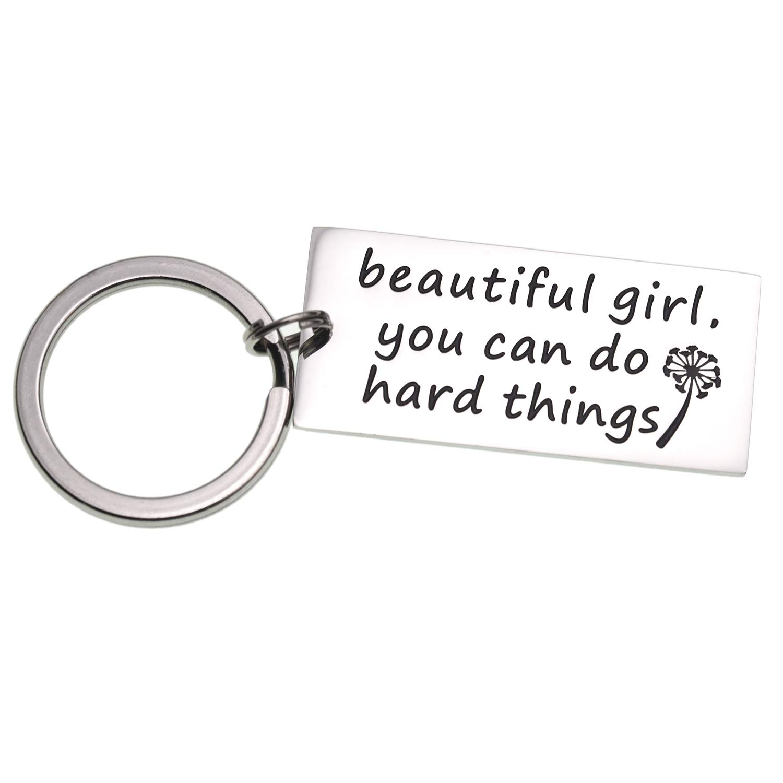 Amazon.com: Lparkin Hermoso llavero inspirador para niña que ...