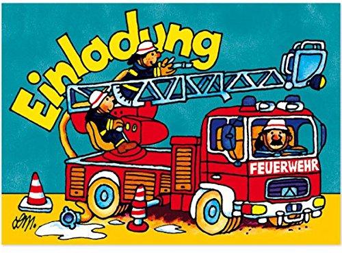 Lutz Mauder Lutz Mauder25824 Feuerwehr Benny Brandmeister Einladung Karten  Set: Amazon.de: Spielzeug