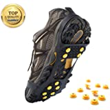 Weanas Ice and Snow Traction Cleats Universal Slip-on Stretch fit Snow Ice Spikes Crampons