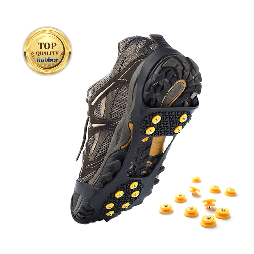Sehrgo Glace et neige Traction Crampons universel à enfiler Coupe stretch Snow Ice Spikes Crampons Others
