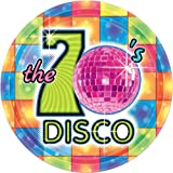 70's Disco Theme Party 7 inch Disposable Paper Plates