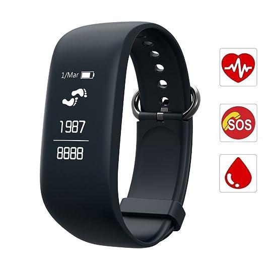 28 opinioni per Fitness Tracker,CAMTOA 0.96''OLED Touchscreen Cardiofrequenzimetro da Polso,IP7