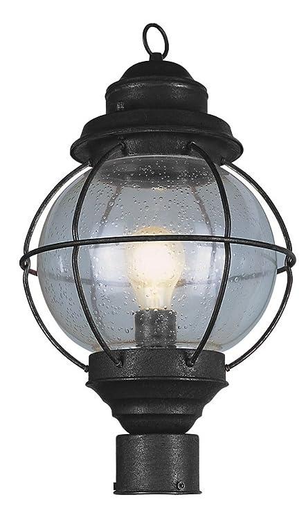 Attractive Trans Globe Lighting 69905 BK Outdoor Catalina 19u0026quot; Postmount Lantern,  ...