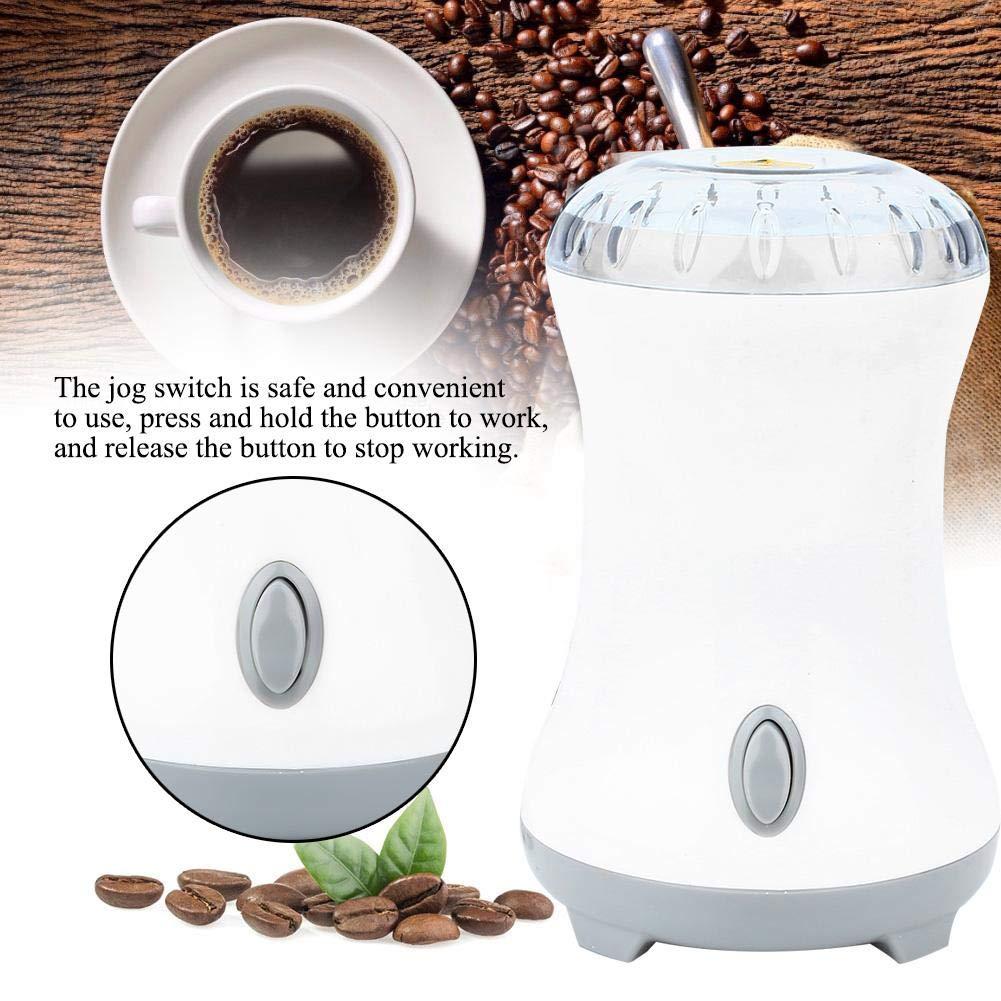 Blanco Molino de molinillo de caf/é semiautom/ático de acero inoxidable multifunci/ón con gran capacidad de molienda