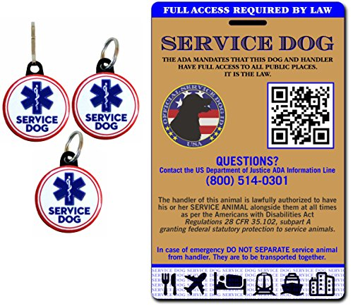 Buttonsmith Holographic Service Dog Card