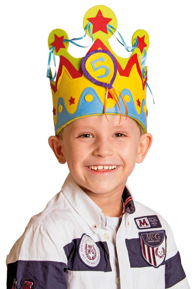 Folat Corona de Cumpleaños Infantil para Niños con números Intercambiables de 1