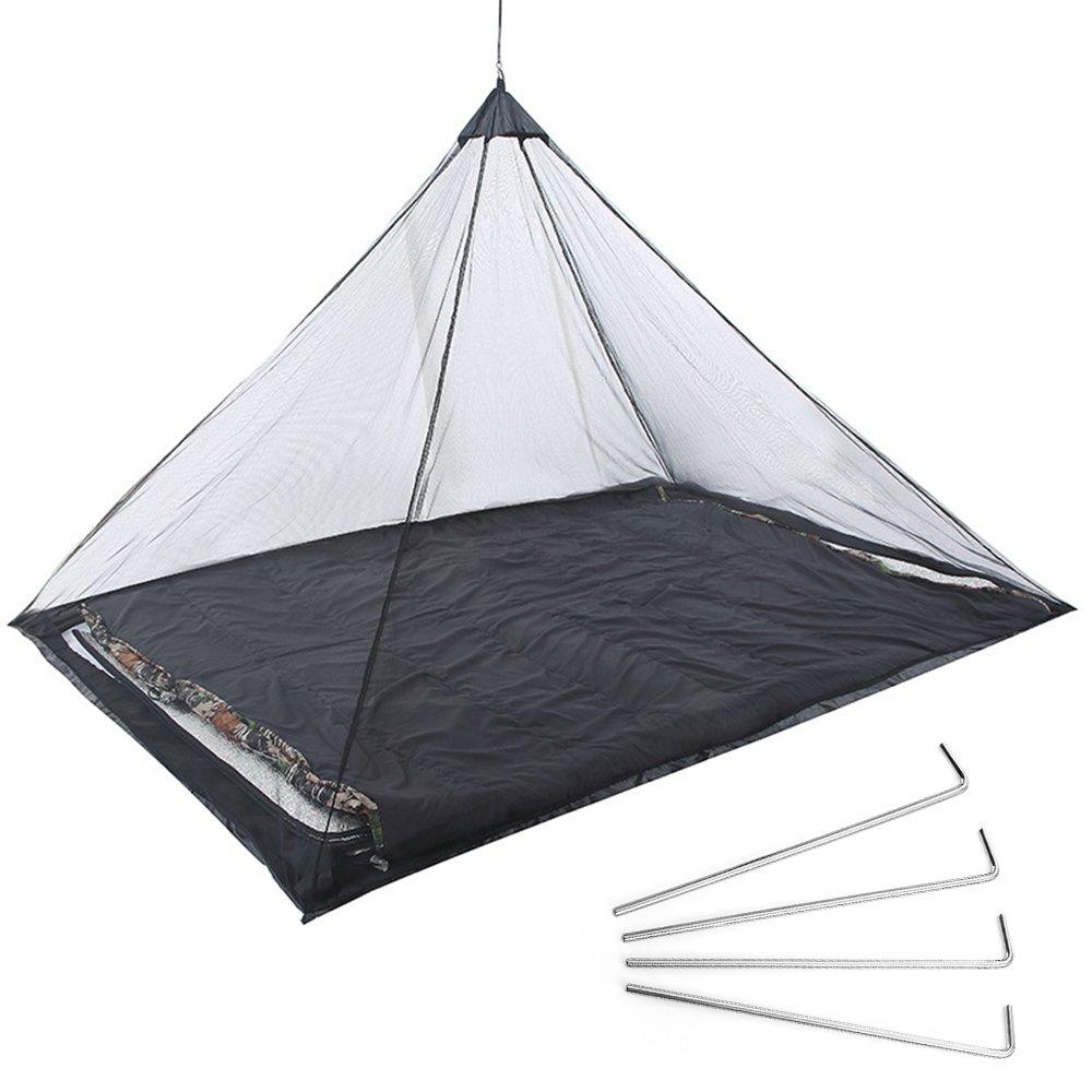 Cuitan Mosquitera de Cama Individual de Camping Ligero Mosquito Net 220 x 120 x 100 cm,Negro: Amazon.es: Jardín