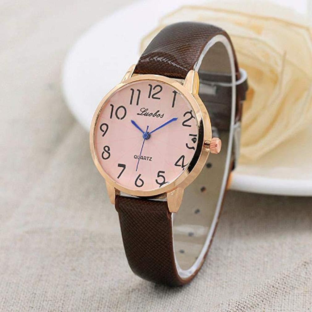 Reloj De Señoras De La Moda, Scpink Señoras Elegantes Y Pequeñas Dial Pequeño Correa Fina Reloj De Cuarzo Espejo De Cristal Redondo De Acero ...