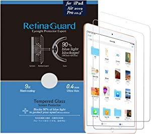 (Pack of 2) RetinaGuard iPad Air 10.5 Inch, Pro 10.5 Inch Anti Blue Light Tempered Glass Screen Protector and Unbreakable Glasslike Screen Protector