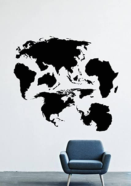 Wall Decals Mural Decor Vinyl Sticker World map North ...