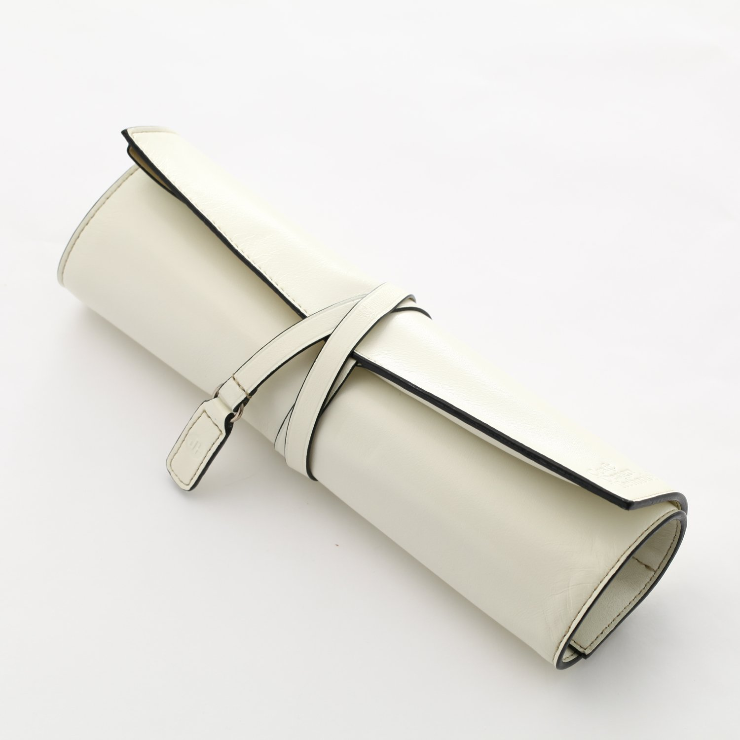Craft Design Technology Leather Roll Pen Case (White) - Made in Japan