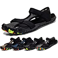 Sisttke Men's Women's Beach Sandals Outdoor Sports Hiking Sandals Quick Dry Barefoot Water Shoes Summer Breathable Closed Toe Casual Walking Sandals