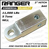 "Ranger 2"" Hitch Receiver 3/4"" Shackle D-Ring Adapter 11,000 lbs 5 tons by Ultranger"