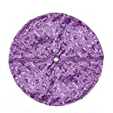 Northlight 20'' Decorative Purple Sequin Snowflake Pattern Mini Christmas Tree Skirt
