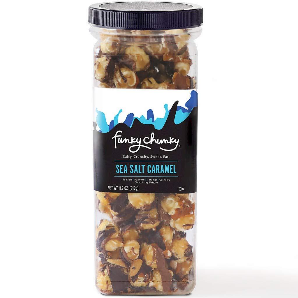 Funky Chunky Sea Salt Caramel Popcorn, 11.2-Ounce Canister (Pack of 6)