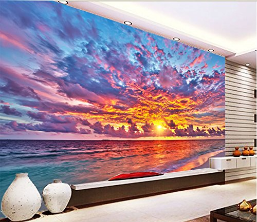 - 3D Beautiful Sunset Sky 531 Wall Paper Wall Print Decal Wall Deco Indoor wall Murals Removable Wall Mural | Self-adhesive Large Wallpaper , AJ WALLPAPER Carly (123