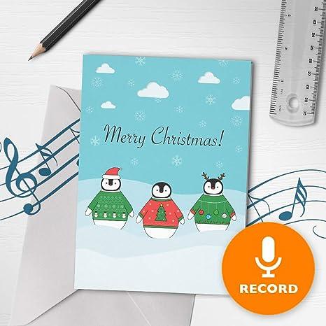 Amazon.com: Tarjeta de felicitación de Navidad con música ...