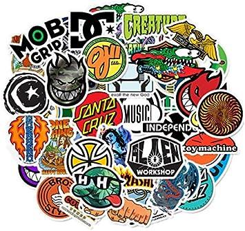 YLGG 50 Piezas monopatín Logotipo de la Marca de Moda Etiqueta ...
