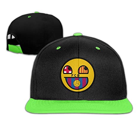 wyuzhen Kid s Futbol Club Barcelona hip-hop gorra tapas: Amazon ...