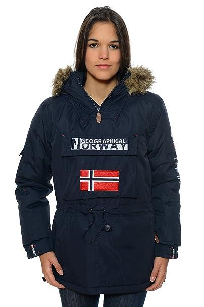 Geographical Norway – Parka de mujer, color azul marino: Amazon.es: Ropa y accesorios