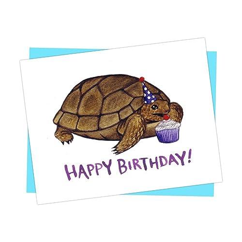 Amazon Gopher Tortoise Happy Birthday Card Handmade