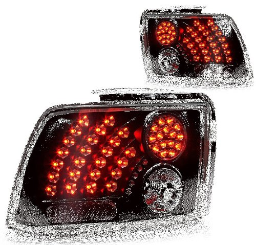 FITS 99-04 FORD MUSTANG LED TAIL LIGHT - BLACK/SMOKE