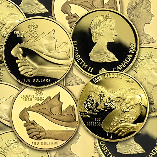1987 CA - 2005 Canada 1/4 oz Proof Gold $100 (Dates of Our Choice) (1/4) About (0.25 Ounce Bar)