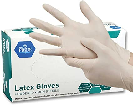 Latex Gloves Large Package Of 100