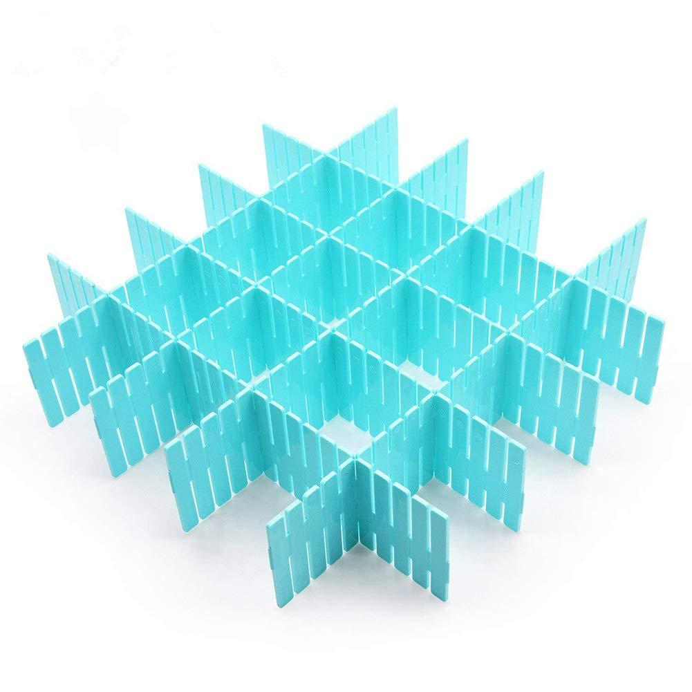 Ajustable Organizador de Cajones para la Ropa Interior Calcetines o Suministros de Oficina Azul Cozywind 8 L/áminas DIY Separadores Cajones
