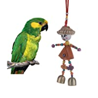 Keersi Funny Doll Bird Chew Toy for Parrot Budgie Parakeet Cockatiel Conure Lovebird Finch Cockatoo African Grey Macaw Eclectus Amazon Cage Accessories