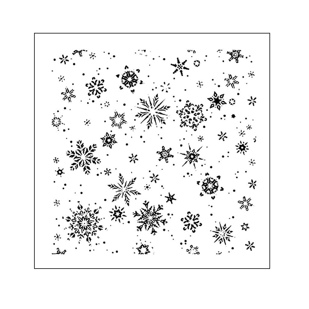 Yevison Clear Silicone Stamp Sheet Printing Scrapbooking Embossing Stamper Transparent Cling Seal for DIY Scrapbook Photo Albums Paper Notebook Card Making Arts Crafts Supplies Different Snowflakes Durable and Useful