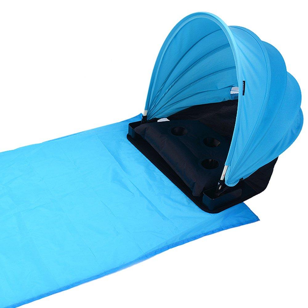 JuneJour Tente pour la Plage Anti UV Camping Soleil Ombre Canopée Portable Réglable Plage Tapis 1Set starsday