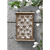 Store Indya Wooden Key Cabinet Box Holder Organizer Handmade with Heart Shaped Motifs by Store Indya