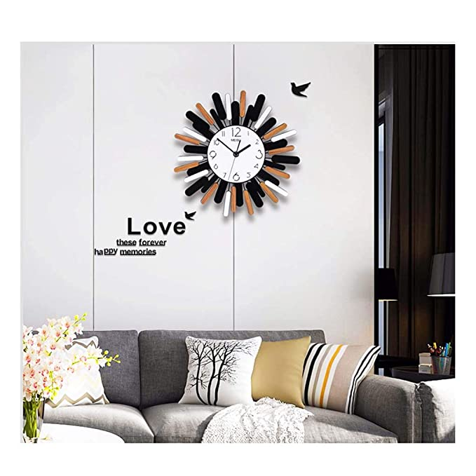 Amazon.com: Wall Clock Xiangyanghua Simple Decorative Quartz Wall Clock (Color : Sun Flower, Size : XS): Home & Kitchen