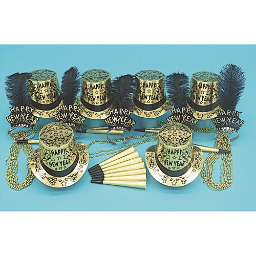 New Year's Gold Tie Party Kit for 50