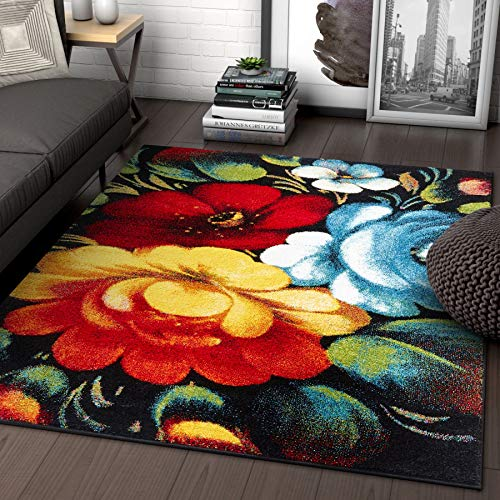 Well Woven Nocturne Multicolor Modern Floral 5×7 (5'3″ x 7'3″) Area Rug