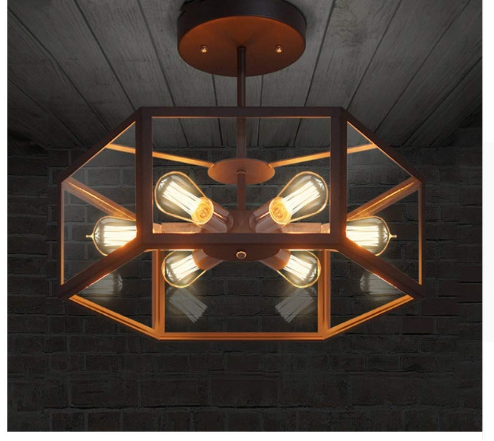 Amazon com bosslv ceiling spots lamps lights spotlights lighting ceiling lights industrial decor contemporary glass hanging ceiling lamp luminaire cafe