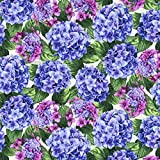 quilt fabric clearance - Clearance Sale~Beverly Park ~Large Hydrangeas~Cotton Fabric by RJR Fabrics