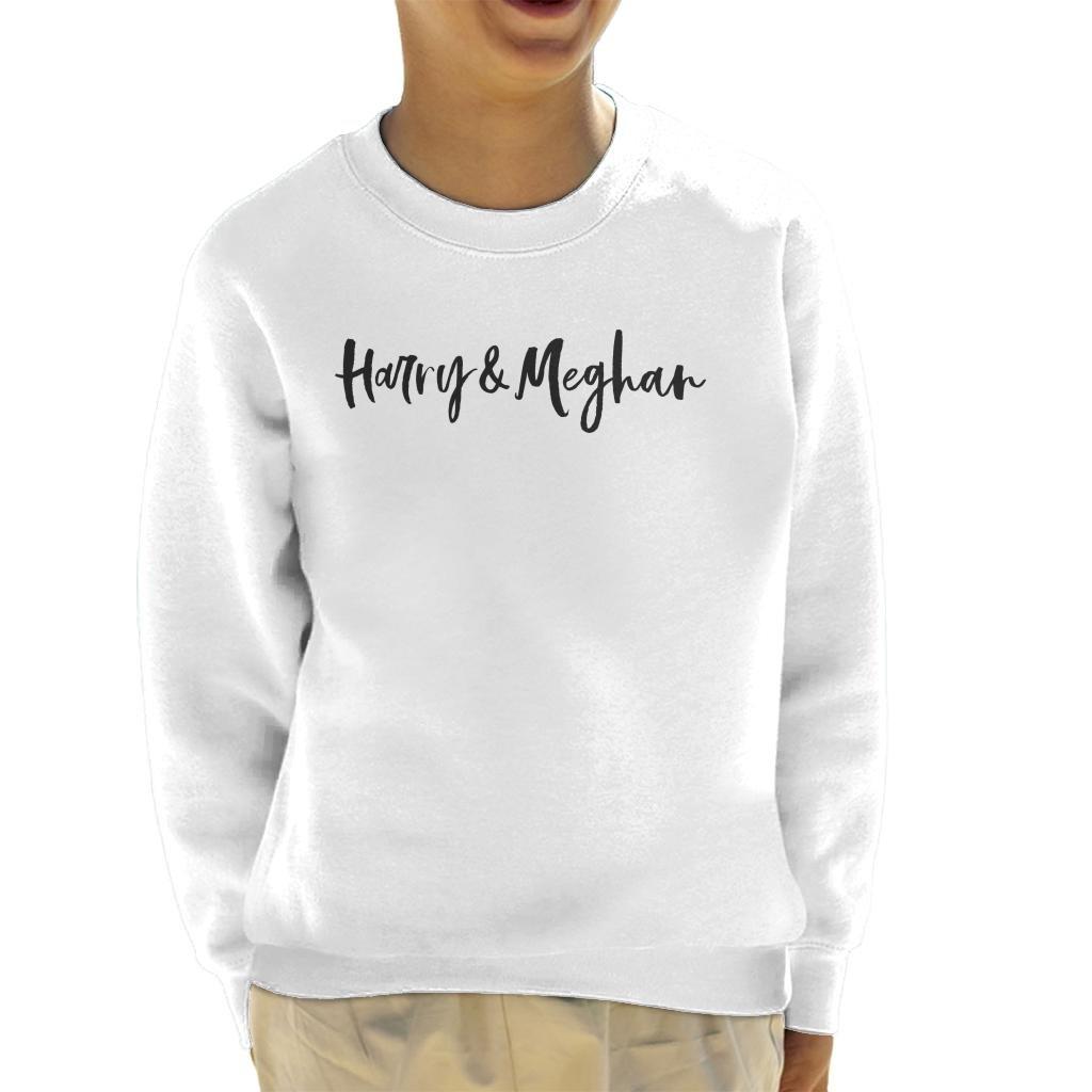 Coto7 Harry and Meghan Royal Wedding Handwriting Kid's Sweatshirt