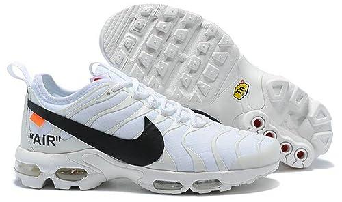 Off White X Air MAX Plus TN Ultra AA3827-100 White Black Zapatillas de Running para Hombre Mujer: Amazon.es: Zapatos y complementos