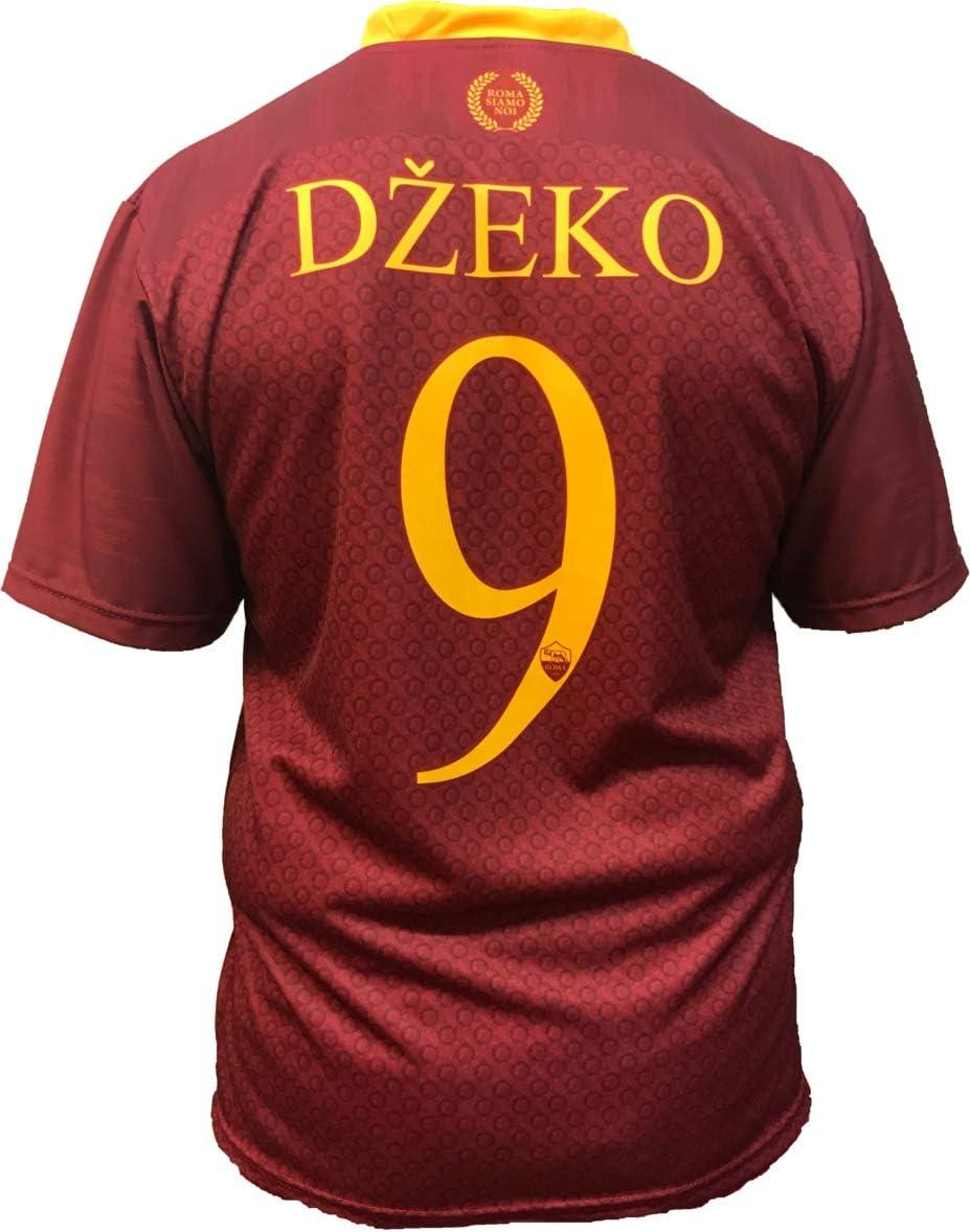 Roma - L.C. SPORT srl Camiseta Jersey Futbol Edin Dzeko Replica Oficial Autorizado 2018-2019 Niños (2,4,6,8,10,12 año) Adultos (Small, Medium, Large, Xlarge) (Talla 6 Años): Amazon.es: Deportes y aire libre