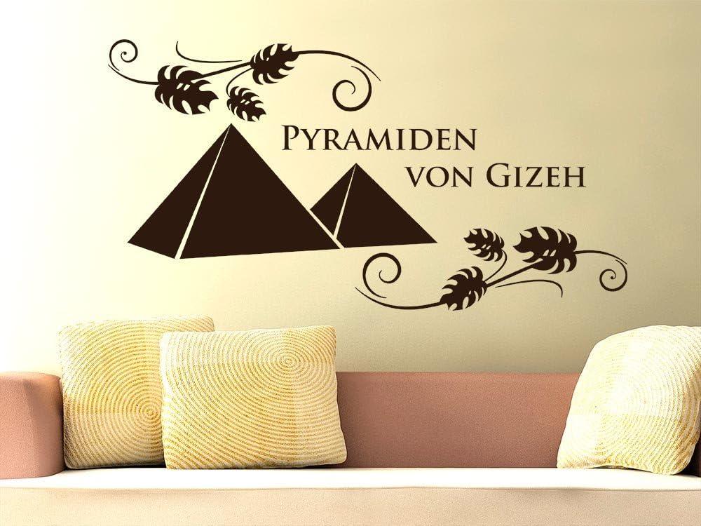 Pared Adhesivo para salón oficina Gizeh Pirámides Egipto Diseño de África del Desierto, 090 gris plateado, 58 x 30 cm: Amazon.es: Juguetes y juegos