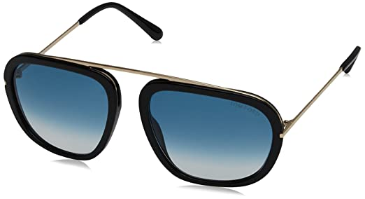 Tom Ford Sonnenbrille Ft0453 Sunglass Met Turchese Op With Fumo Specchiato, 57